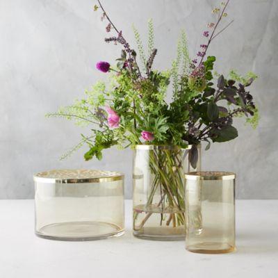 Gold Punched Lid Vase