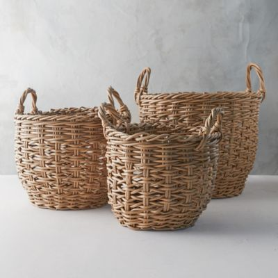 Faux Wicker Basket