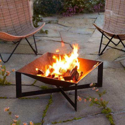 Low Cross Leg Fire Pit