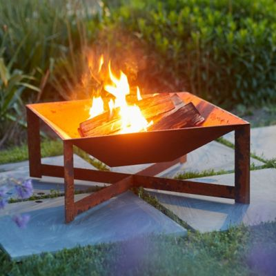Low Cross Leg Fire Pit