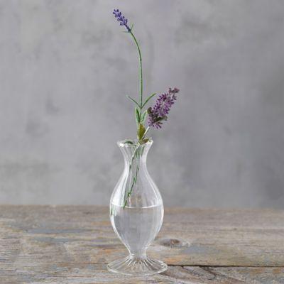 Scalloped Glass Vase