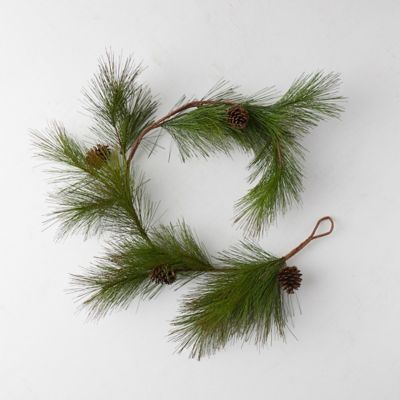 Faux Pine Needle Garland