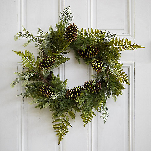 View larger image of Faux Pine + Fern Wreath
