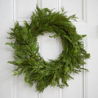 Faux Cedar Wreath