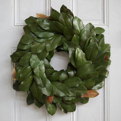 Faux Magnolia Wreath