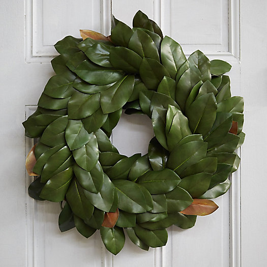 View larger image of Faux Magnolia Wreath