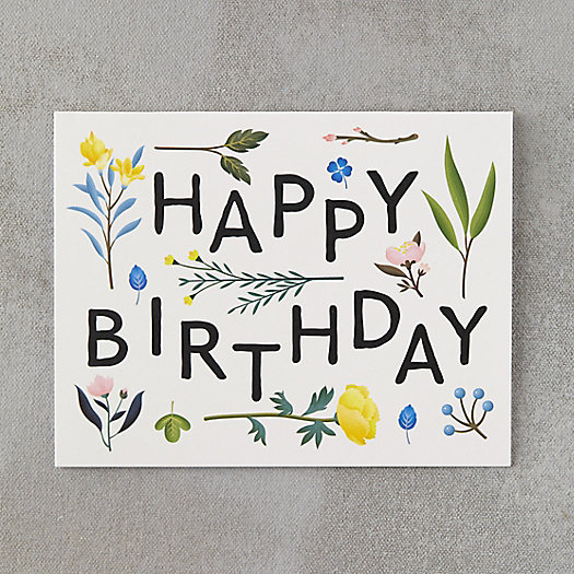 View larger image of Floral Wallpaper Birthday Card