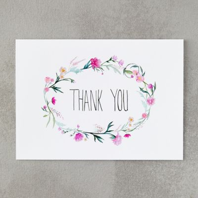 Flower Crown Thank You Card