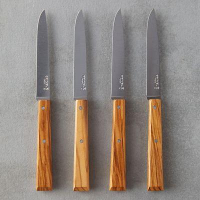 Opinel Olivewood Steak Knife Set