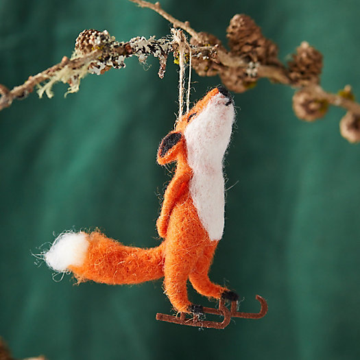 View larger image of Felt Ice Skating Fox Ornament
