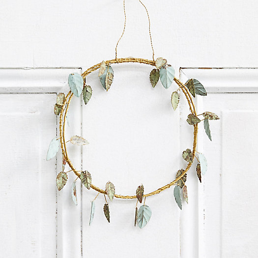 View larger image of Mini Iron Rose Leaf Wreath