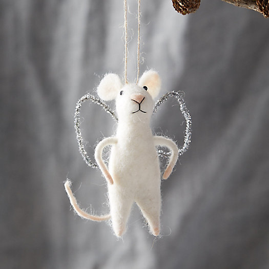 View larger image of Felt Angel Mouse Ornament