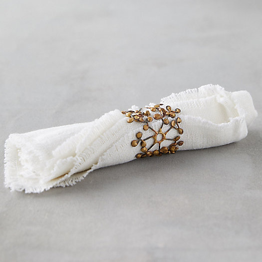 View larger image of Golden Floral Napkin Rings, Set of 4