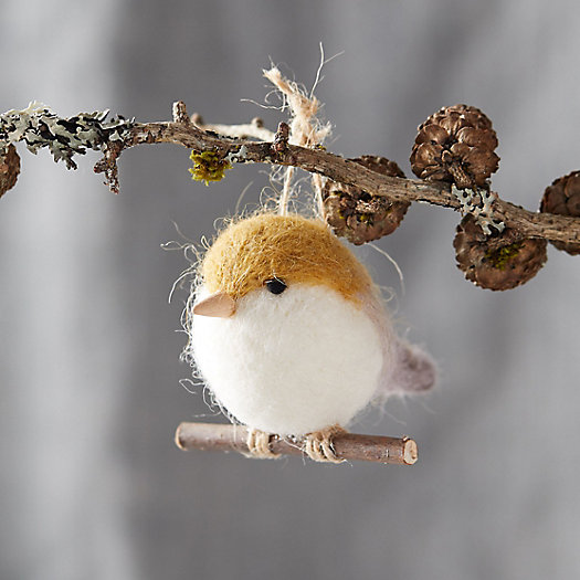 View larger image of Felt Bird on a Branch Ornament
