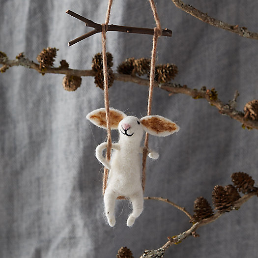 View larger image of Felt Swinging Bunny