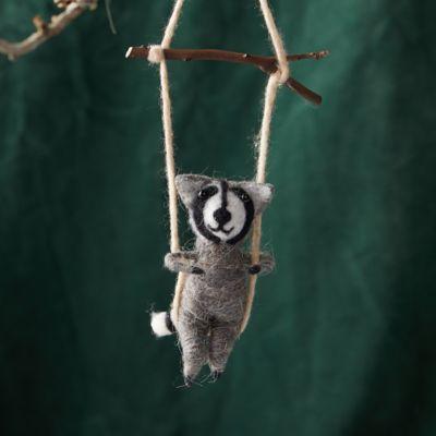 Felt Swinging Raccoon