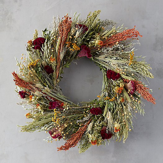 View larger image of Flax and Safflower Bouquet Wreath