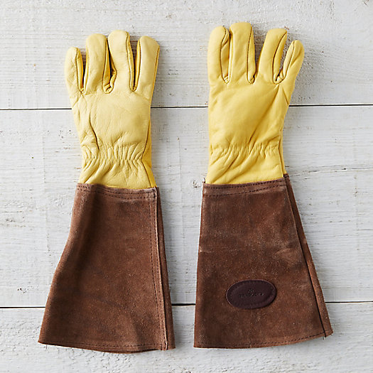 View larger image of Men's Leather Gauntlet Garden Gloves