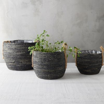 Cornleaf Basket Planter