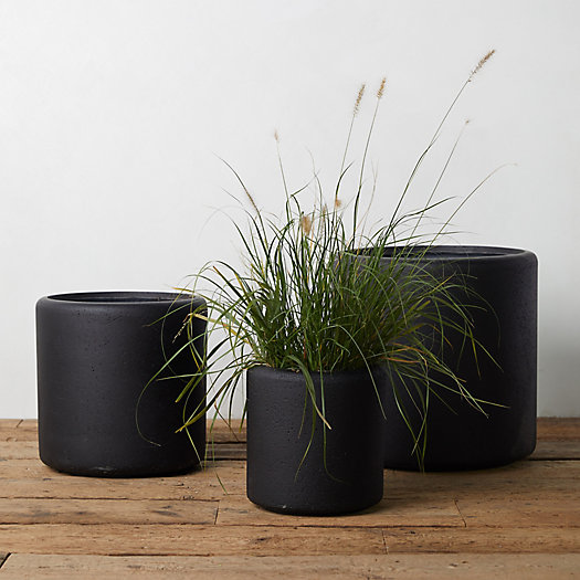 View larger image of Modern Fiber Cylinder Planter