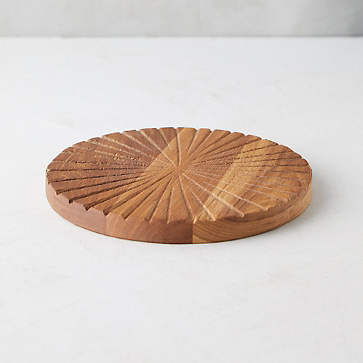 View larger image of Notched Round Oak Serving Board