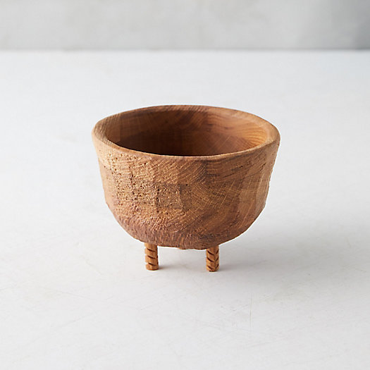 View larger image of Footed Oak Bowl