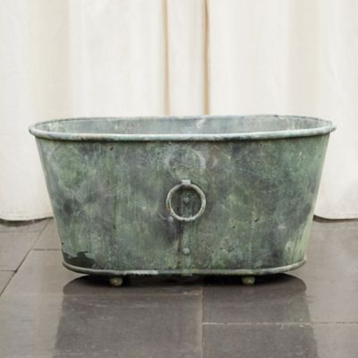 Ring Handle Trough Planter