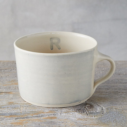 View larger image of Color Washed Monogram Soup Mug