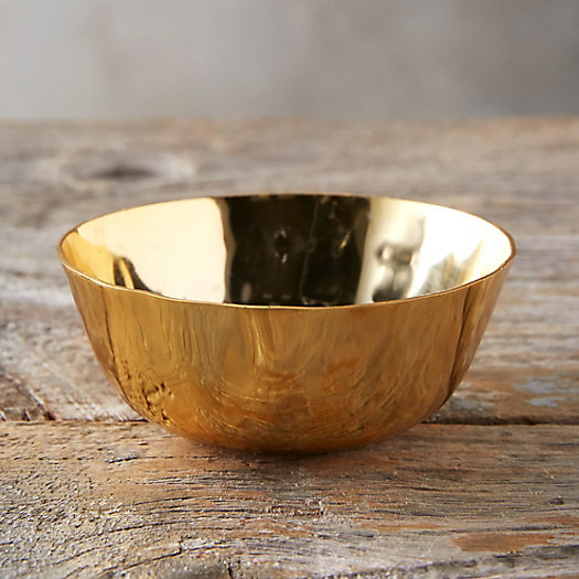 View larger image of Hammered Brass Dip Bowl