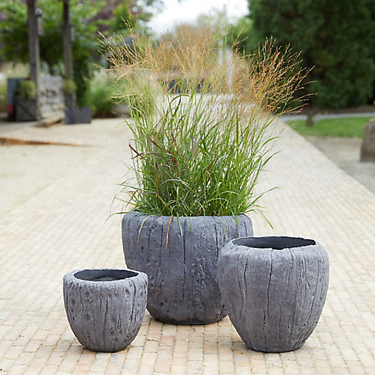 View larger image of Fiber Concrete Wood Grain Pot