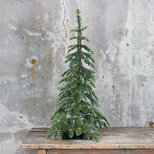 View larger image of Faux Pre-lit LED Alpine Tabletop Tree
