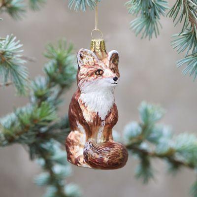 Sly Fox Glass Ornament