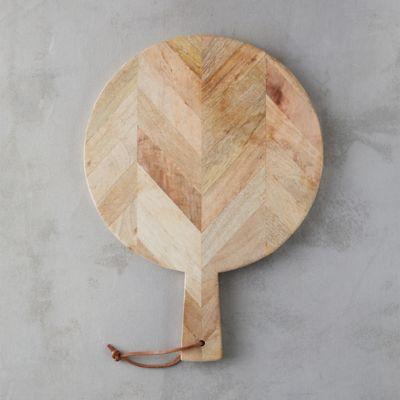Herringbone Wood Round Board