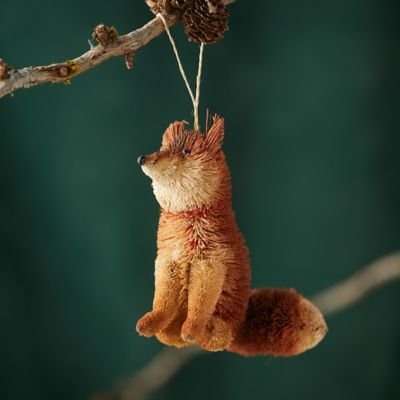 Brushy Winter Fox Ornament