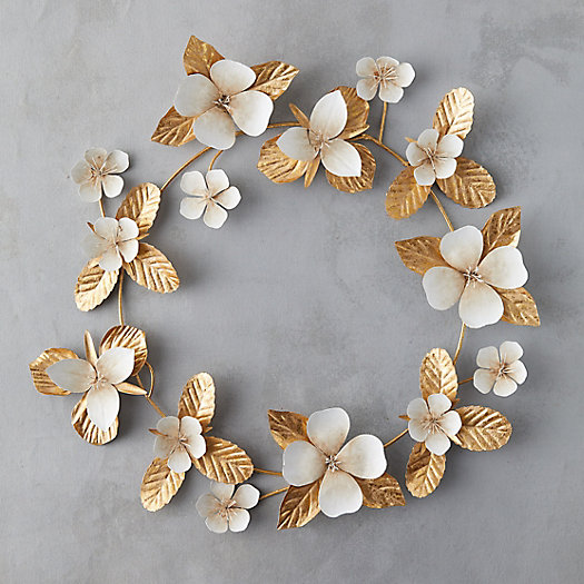 View larger image of Golden Floral Leaf Wreath