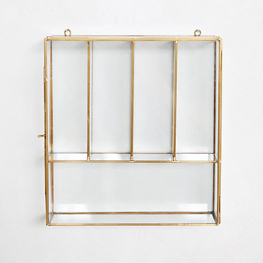 View larger image of Hanging Brass Curio Box