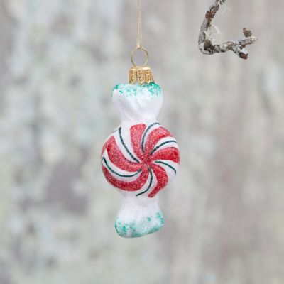 Peppermint Candy Glass Ornament
