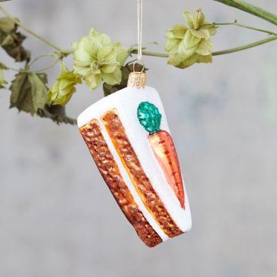 Carrot Cake Glass Ornament