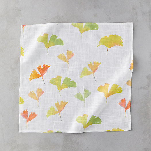 View larger image of Ginkgo Leaves Cotton Napkin