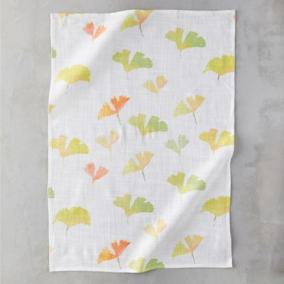 Ginkgo Leaves Tea Towel