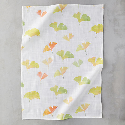 View larger image of Ginkgo Leaves Tea Towel