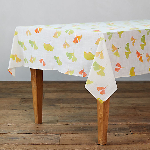 View larger image of Ginkgo Leaves Tablecloth