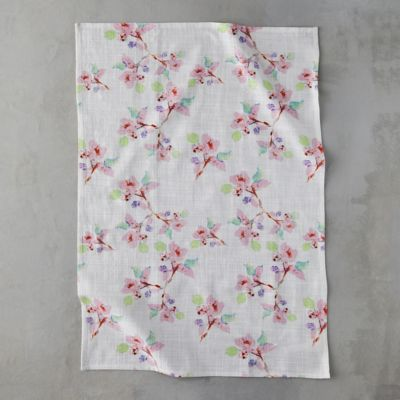 Pink Blossoms Tea Towel