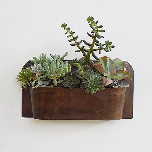 View larger image of Rust Finished Wall Planter