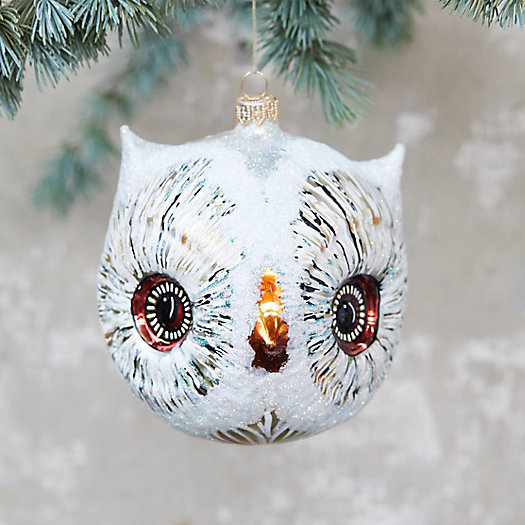 View larger image of Owl Head Glass Ornament, Large