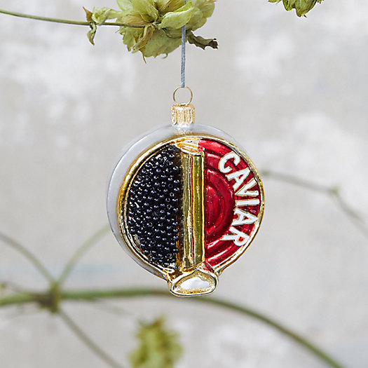 View larger image of Caviar Tin Glass Ornament