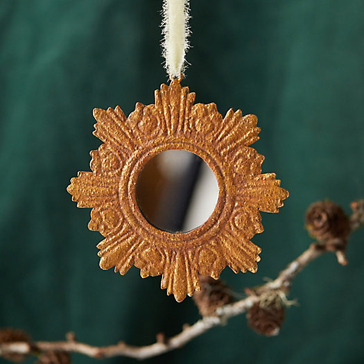 View larger image of Golden Halo Mirror Ornament, Edged