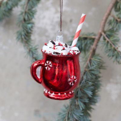 Hot Cocoa Glass Ornament