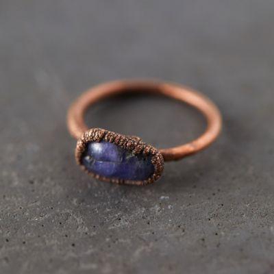 Tumbled Tanzanite Ring
