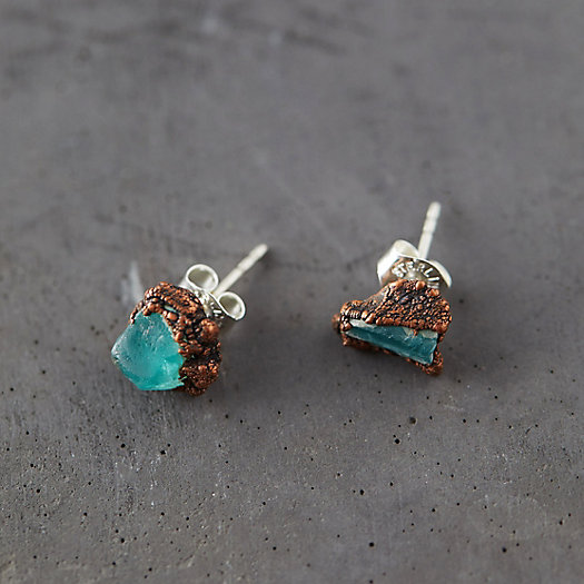 View larger image of Raw Apatite Studs